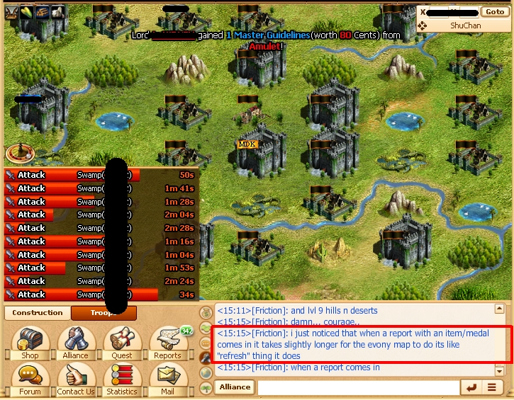 Spamming a Valley to Conquer and Release Medal Farm in Evony